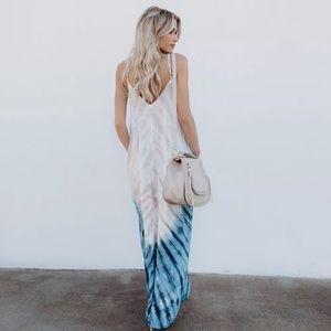 Beachy Ombré tie dye dress